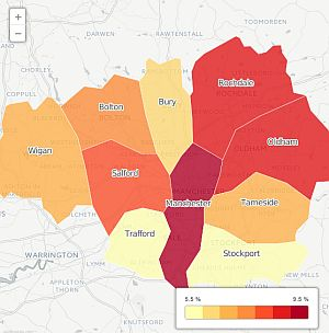 Example of a map from the Poverty Monitor for GMPA article