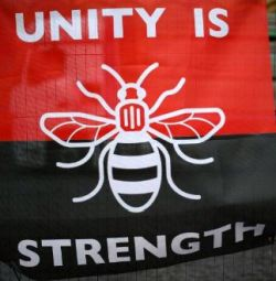 Manchester Bee Unity is strength for GM Poverty Action