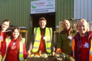 Volunteers at FareShare for GM Poverty Action article