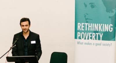 Tom Skinner speaking at Rethinking Poverty for GM Poverty Action