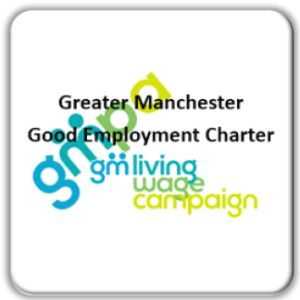 GMPA & GMLWC joint logos for good employment charter for gm poverty action