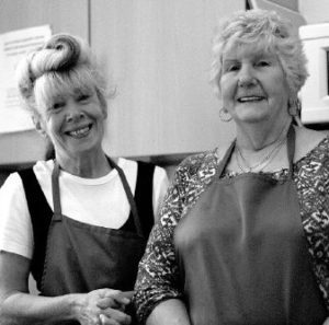 Miles Platting Community Grocer volunteers Bridget and Dot for GM Poverty Action