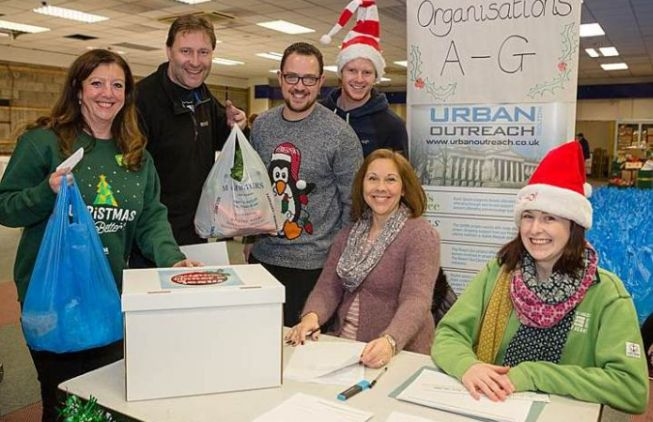 Urban Outreach Christmas Hampers in Bolton for GM Poverty Action