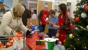 Collection at Tesco November 2019 for GM Poverty Action