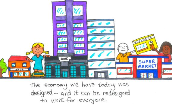Talking about poverty doodle for GM Poverty Action