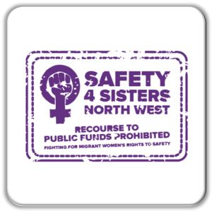FI Safety4Sisters logo for GM poverty Action