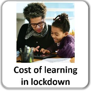 Cost of learning in lockdown