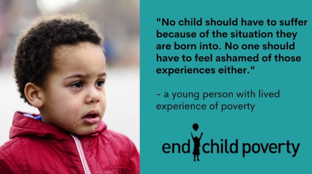 End Child Poverty infographic 2021
