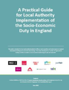Front cover of socio-economic duty report for GM Poverty Action