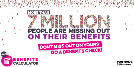 Turn to us 7 million graphic for GM poverty Action